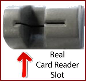 Real Card Reader Slot Framed